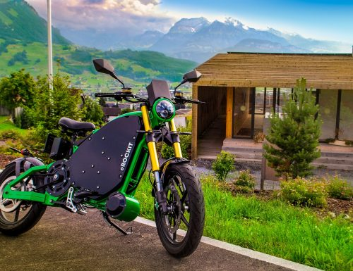eROCKIT electric Motorcycles: You control the speed with pedals