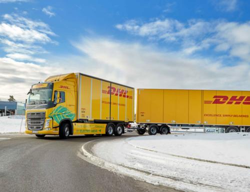 DHL Freight y Volvo colaboran para probar camiones eléctricos en Suecia