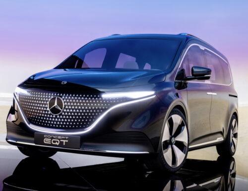 Minivan elettrico EQT di Mercedes-Benz