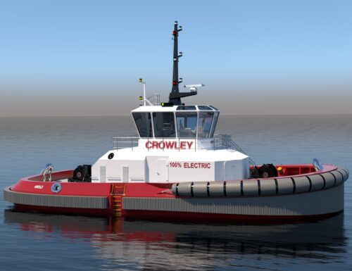 Crowley is making an 80-foot electric tugboat for use in the US