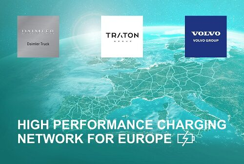 Volvo, Daimler and TRATON to invest 0.5 B euro on high speed charging